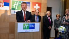 "Official inauguration of the ""Holiday Inn Express Belgrade – City"" in Belgrade"