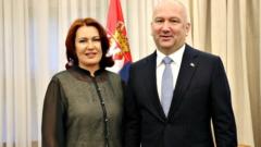 Sastanak g-đe Mikhailove, ŠSTK Predsednika, i NJ.E. Ministra Popovića