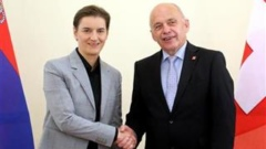 Serbian PM Ana Brnabic met with Swiss President Ueli Maurer in Bern