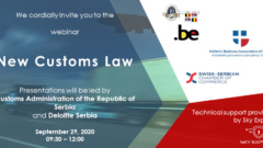 "Webinar ""New Customs Law"" on September 29, 2020 at 09h30"