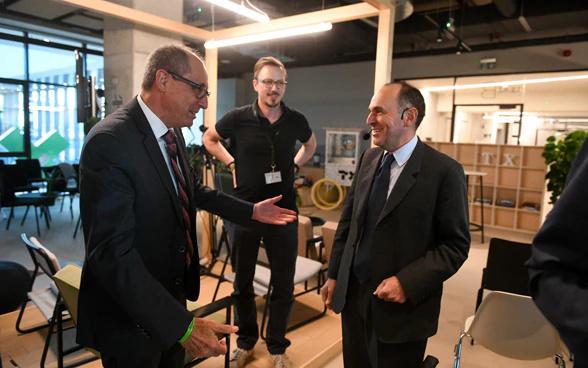 Ambassador Urs Schmid with Mr. Pietro Supino